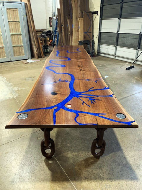 Live Edge Mississippi River Table