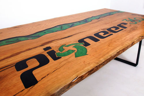 Buy A Live Edge Epoxy Logo Conference Table Locally (U.S. Only Or Online [Any Size Or Shape]