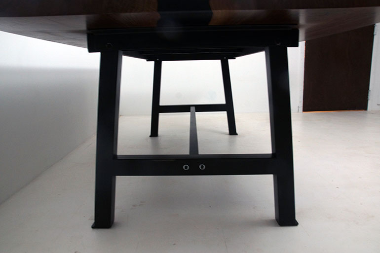 Black Walnut Conference Room Table With Black Epoxy Resin River