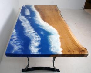 "Epoxy Resin ""Moving Ocean"" Coffee Table $1,000+ [Incredible Ocean Table]"