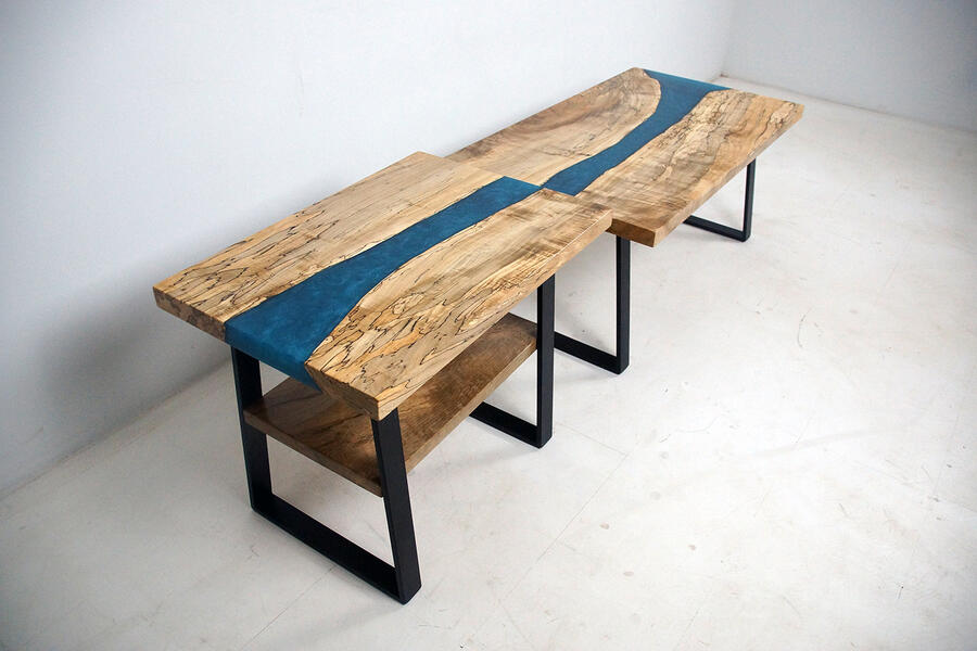 Spalted Maple Coffee Table And End Table Set