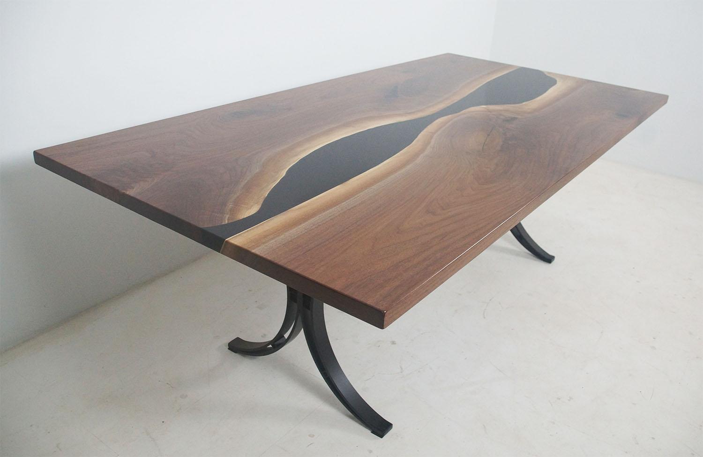 Large Black Walnut Dining Room Table