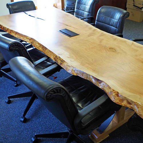 Custom Live Edge Cherry Conference Table