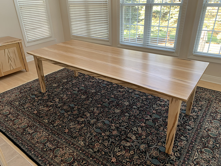 Custom Made Modern Solid Dining Room Table Co-Designed Online By CVCF And Customer In 20202