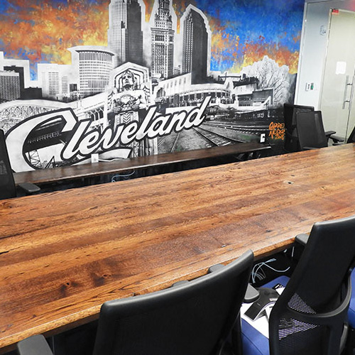 Rustic 13 Foot Barnwood Conference Table