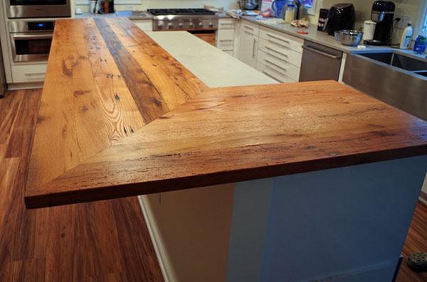 Rustic Oak L-Shaped Countertop Sold Online In 2020
