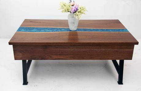 Walnut River Coffee Table With Storage