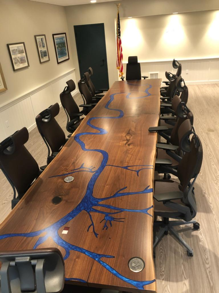 Mississippi River Conference Table In The Office