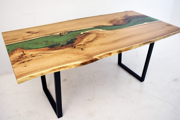 Green River Dining Room Table With Sand And Pebbles