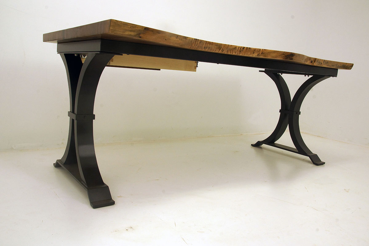 Live Edge Home Custom Office Desk With Drawer