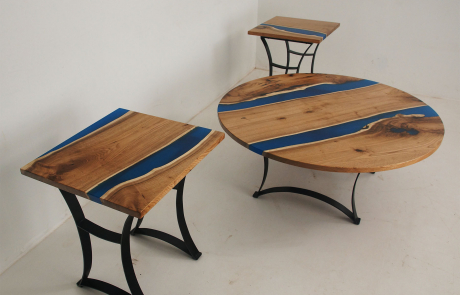 Butternut Blue River Coffee Table & Matching End Tables