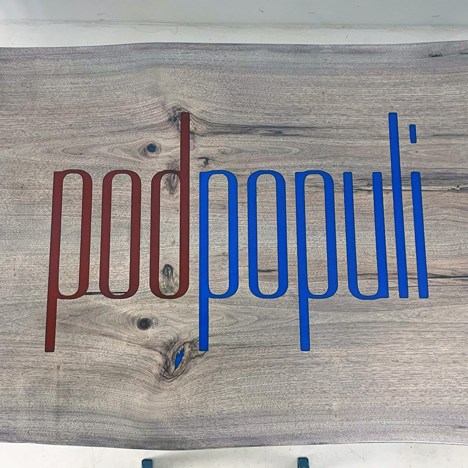 Engraved CNC Logos And Filled With Epoxy Resin