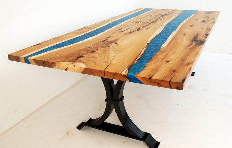 Hickory Double River Dining Room Table