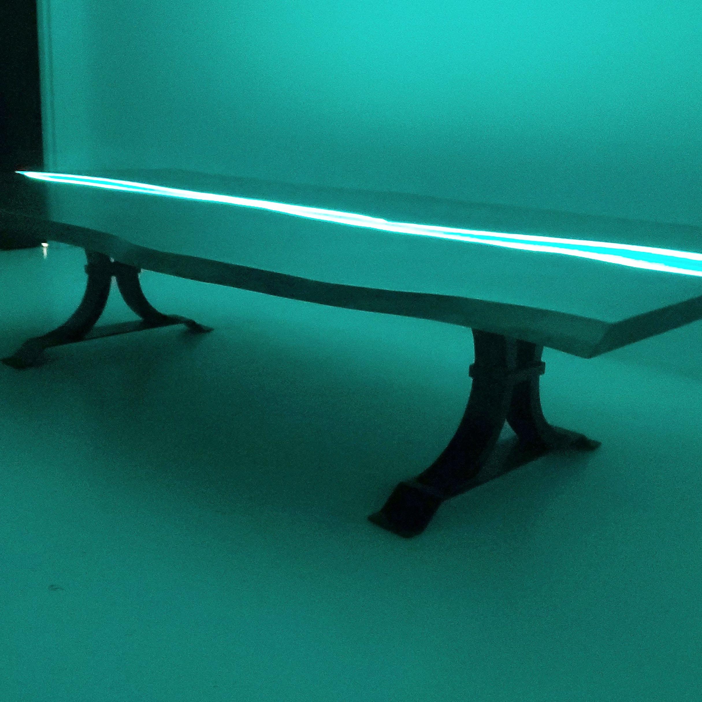 LED Backlit Epoxy Resin River Table