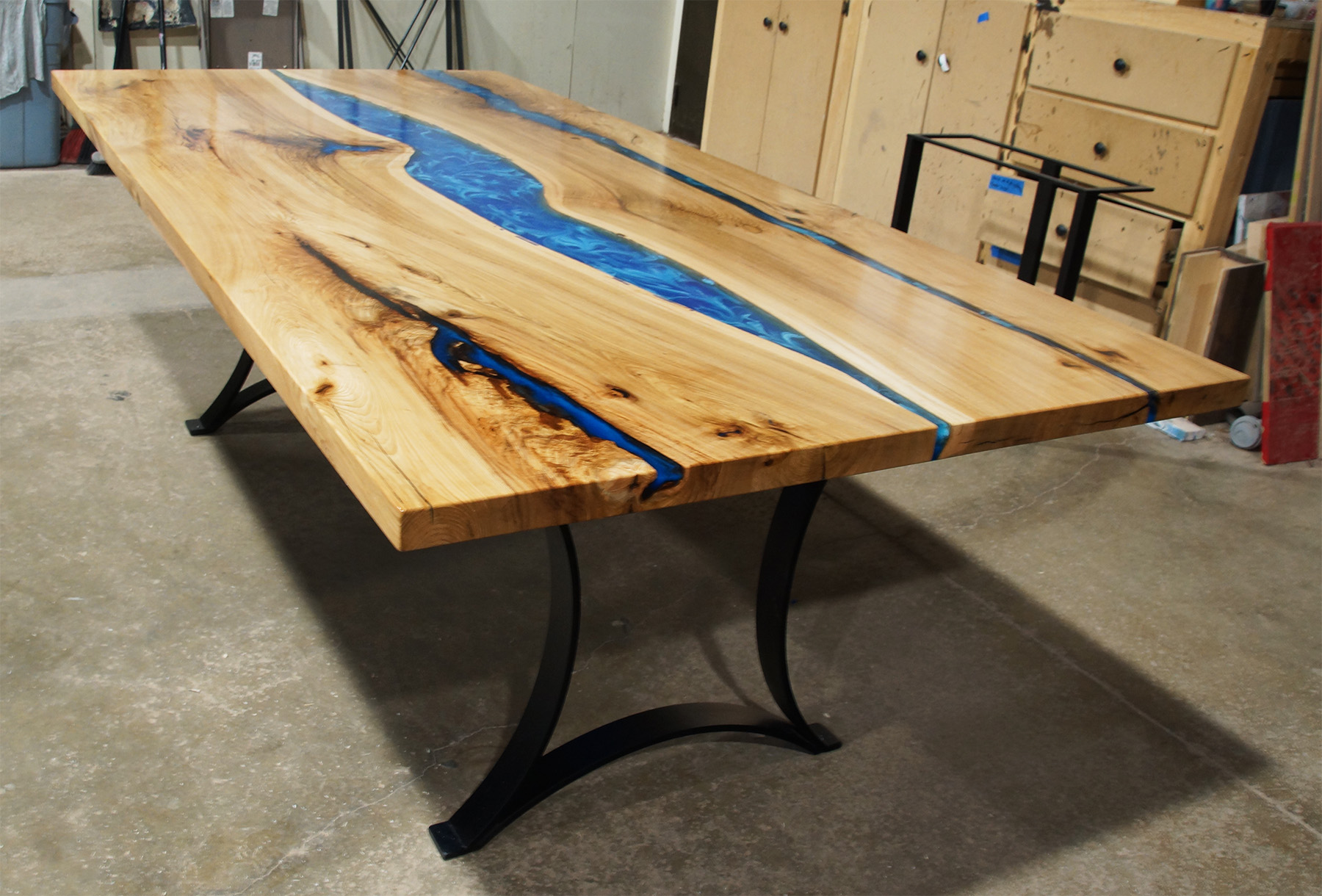 Hickory Resin River Dining Table